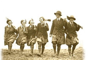 Beatrix Havergall (second from right) ran a successful women's gardening school in England